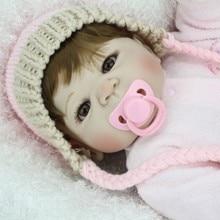 NPKDOLL 55cm Soft Silicone Reborn Dolls Baby Realistic Doll 22 Inch Full Vinyl Boneca BeBe W/Clothes Gift