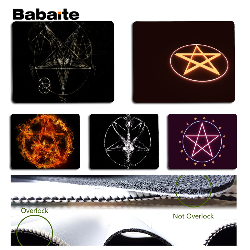 Babaite New Printed Pentagram Laptop Gaming Mice Mousepad Size for 180x220x2mm and 250x290x2mm Small Mousepad