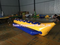 inflatable pvc banana boat 6 seats