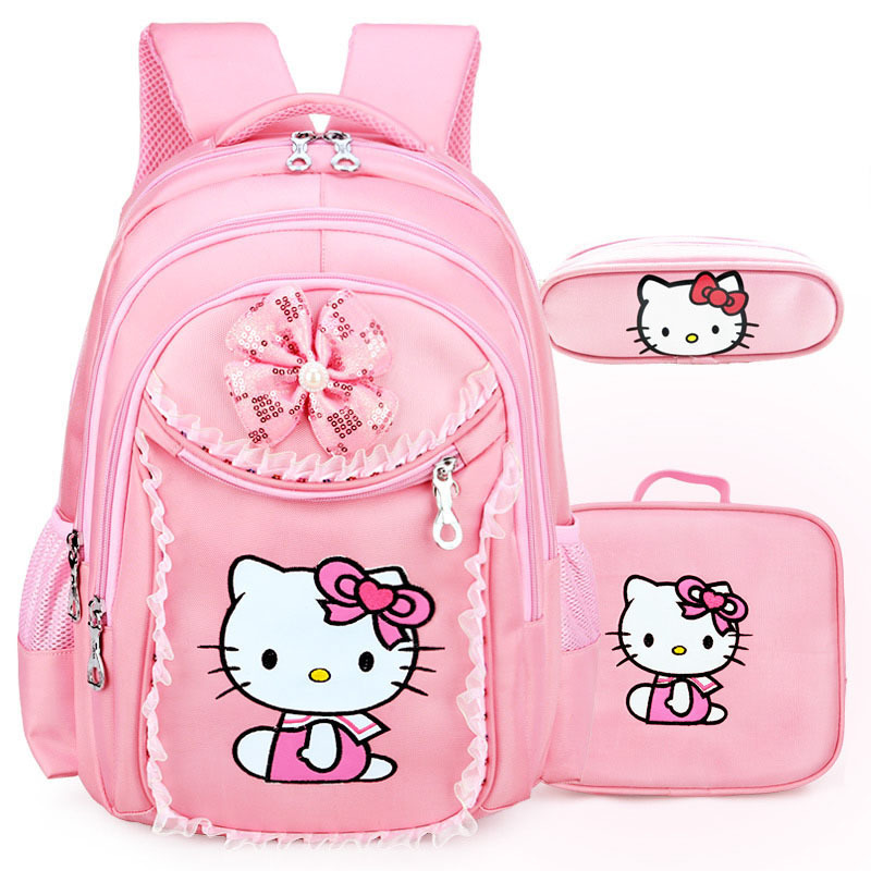 FZMBAI Hello Kitty School Backpacks for Girls Kids Satchel Children School  Bags For Kindergarten Mochila Escolar Rucksacks 0f2612ddb3c25