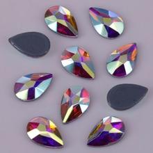 Hotfix Rhinestones Crystal Ab-Pear Iron On Stones/flat-Back Lead-Free 5x8mm
