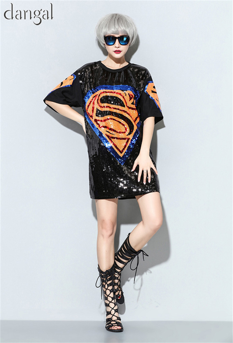 Sequin T shirts 2018 Fashion Hip Hop Girl Bling Black T shirt Half Sleeve T  shirt Street T Shirt For Stage Dance Club Party -in T-Shirts from Women s  ... 4f6759c6a173