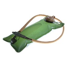 JHO-2.5L Thickening EVA Hydration Water Bladder Bag for Sports Cycling Hiking Camping Climbing Bicycle Portable Army Green