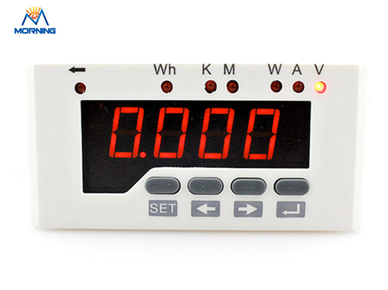 DP51 white Single-Phase DC Data Retention LED Digital Display Active Power Meter support RS485  Frame Size 96*48mm me 3h61 72 72mm led display 3 phase digital power factor meter support switch input and transmitting output