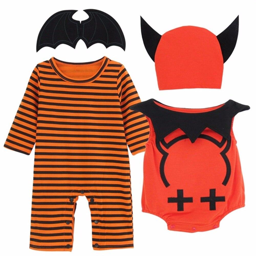 baby boy halloween costume romper little devil vest striped long
