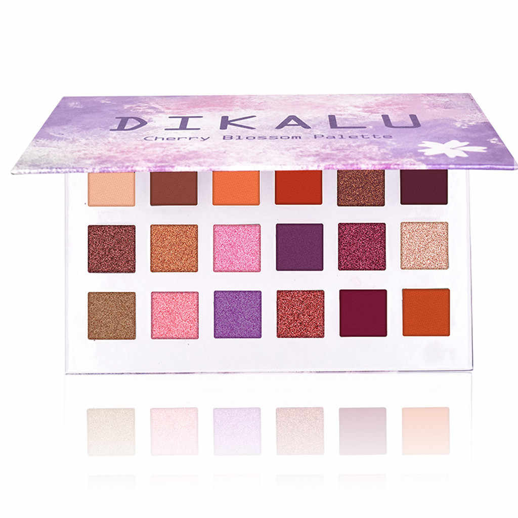 Portable 18 Warna Eye Shadow Sorot Wajah Eyeshadow Stabilo Bubuk Makeup Mutiara Logam Eyeshadow Palet Makeup F5.6