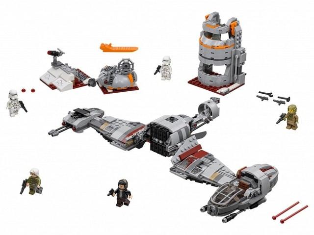 05141 LEPIN 836pcs Star Wars The Defense Of Crait Set Model Building Blocks Enlighten Figure Toys For Children Compatible Legoe