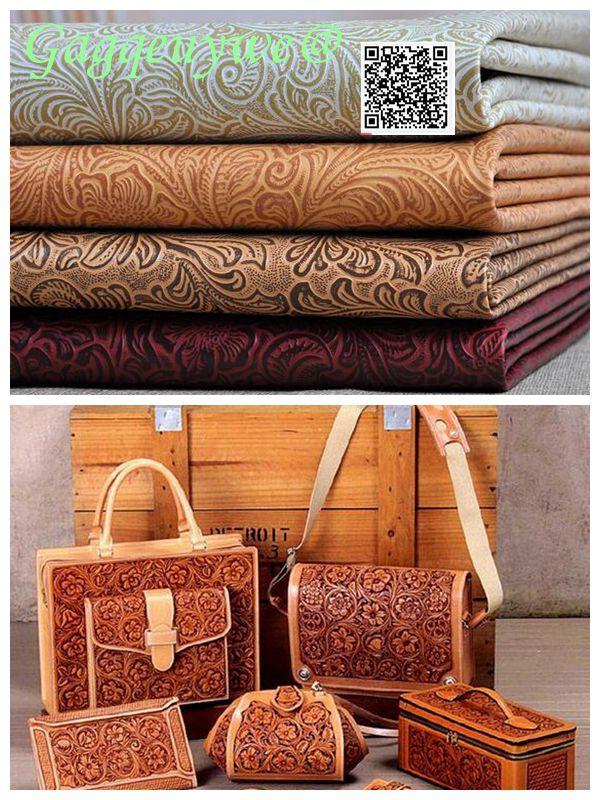 Gagqeuywe Pteris sac motif rétro cuir tissu fond décoration imitation cuir tissu bricolage matériel artisanat cuir