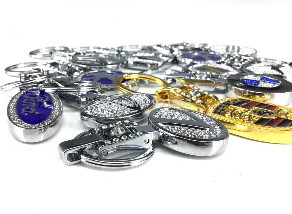 10 pièces métal pour voiture trousseaux de clés Porte-clés de L'automobile De Voiture Hommes et femmes Cadeau pour Ford BENZ Audi Toyota Suzuki Subar Nissan