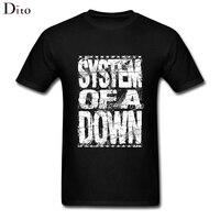 System Of A Down Logo T Shirt Men Man S Tailored White Short Sleeve Custom Plus
