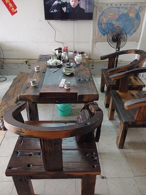 Ecológico Original de madera muebles mesa de té de madera juegos de ...