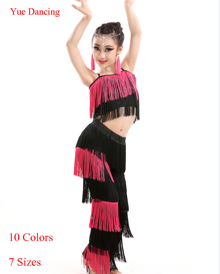 great gatsby dress robe danse latine femme fringe tassel dance costumes for kids latin salsa. Black Bedroom Furniture Sets. Home Design Ideas