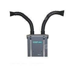 QUICK6602 250W Dual Pijp Rook Zuiverende Rook Zuivering Filter Voor Solderen Reparatie Moxibustion Medische