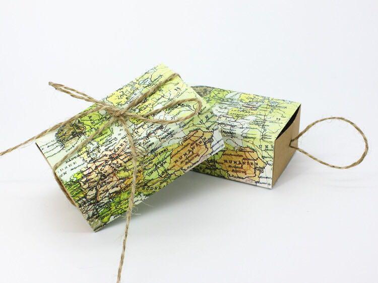 Emerra 10Pcs Kraft Paper Candy Box Drawer Carton Wedding Gift Tea Bag