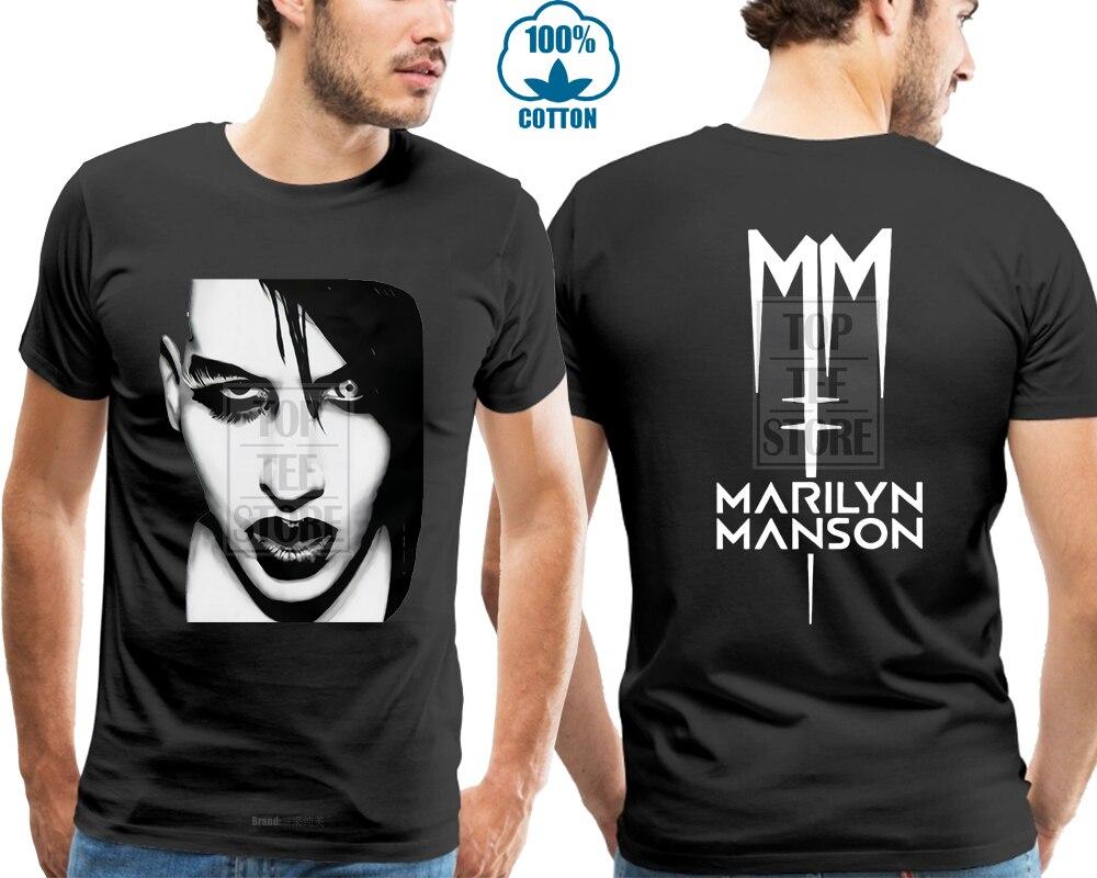 M XL Black T-Shirt L Marilyn Manson Skull Cross S