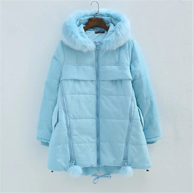 New 2016 winter jacket women Long Casual Womens Parkas Raccoon Fur Collar Female Hooded Coat Plus Size Female Parka Warm Outwear forex b016 6760