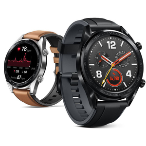 Image 2 - Watch Strap for Huawei Watch GT 2 46mm Genuine leather Silicone Watch Bands For huawei Honor Watch Magic 2 Bracelet