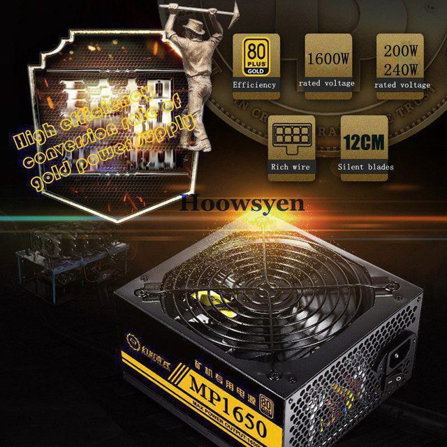 US $108 98 |Ethereum bitcoin Mining dash miner 1600W power supply RX 470  pentium G3220 CPU Frame miner Rig Kit 80 PLUS GOLD -in PC Power Supplies  from