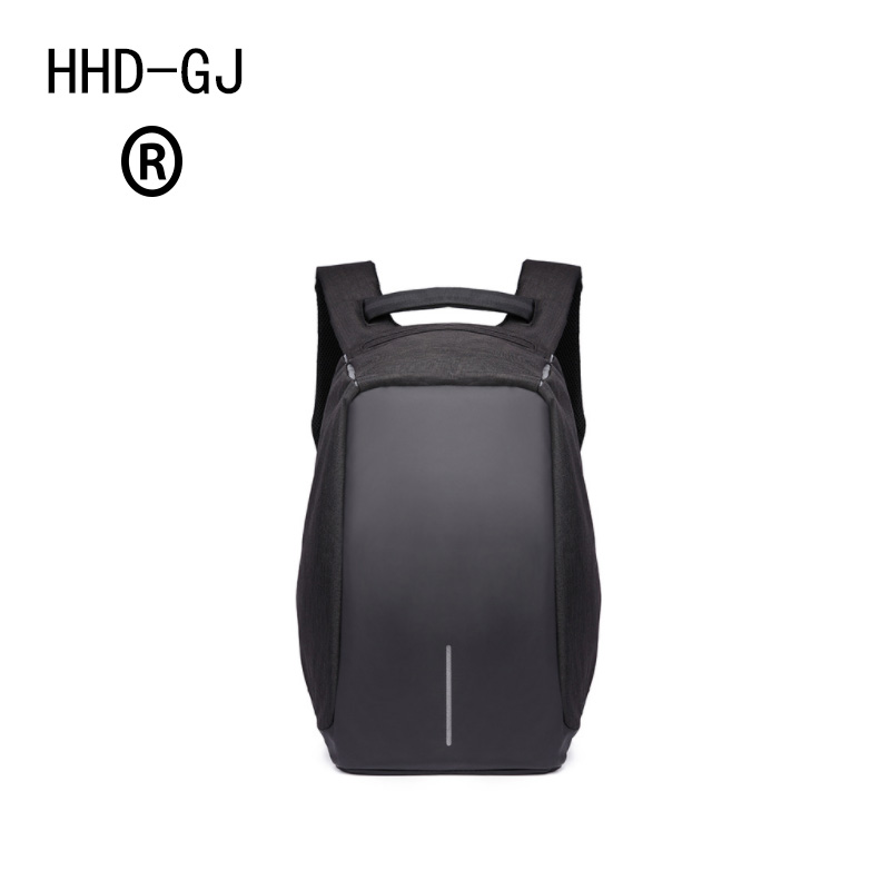 HHD-DJ Canvas Mens Anti Theft Backpack Bag USB Charge 15 Inch Laptop Notebook Backpack For Men Waterproof Travel Back Pack Bag