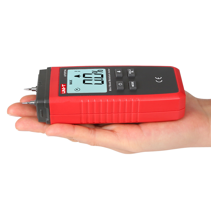 UNI T UT377A Digital Wood Moisture Meter Used as Humidity Tester for Paper Plywood and Wooden Materials 3