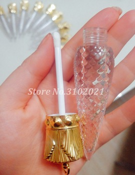 20/50pcs Empty New Transparent Lip Gloss Tube DIY Cosmetic Lipbalm Refillable Container Makeup lipstick vials Gold Cover 1