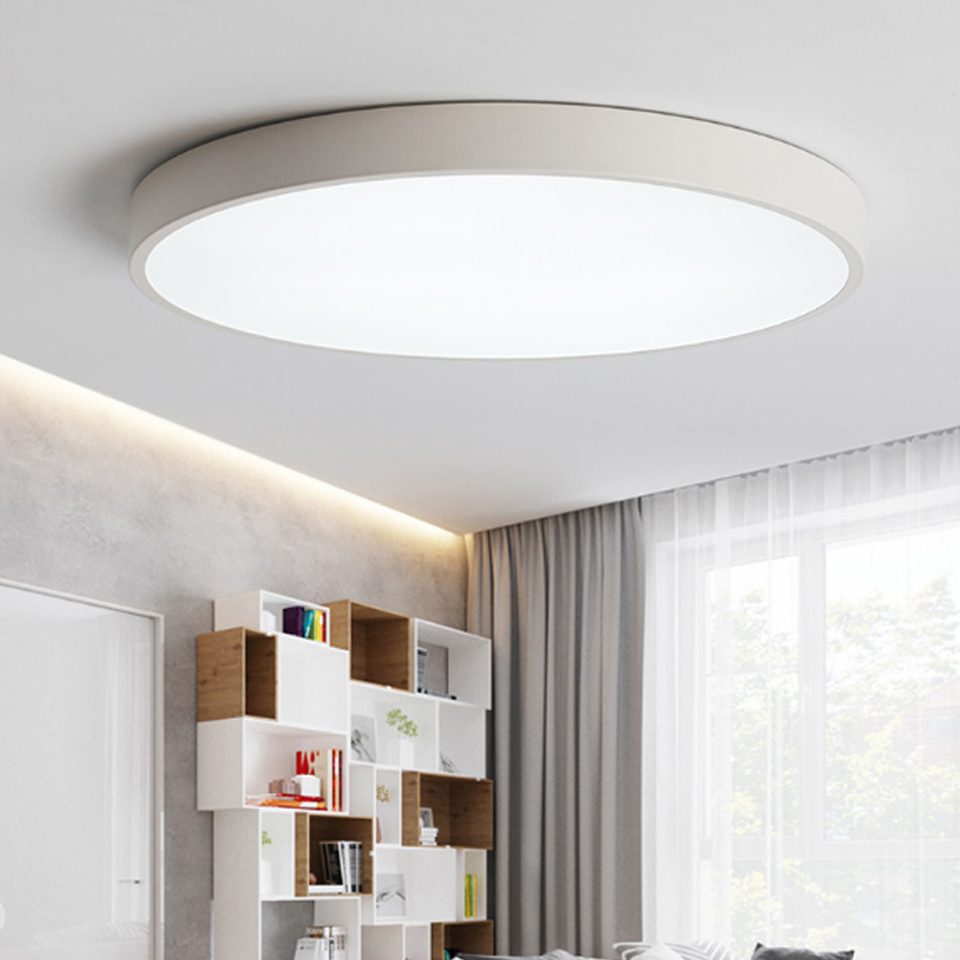 Xsky LED Ceiling Lamp Modern Thin 5cm Round Ceiling Light Living Room Fixture Bedroom Kitchen Surface Mount Indoor Home Lighting цена 2017