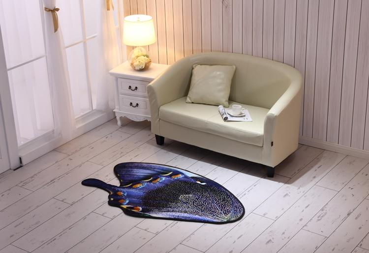 3D papillon tapis de sol tapis salle de bain tapis doux pied pad porte tapis salon chambre chevet tapis tapis bébé ramper tapis - 4