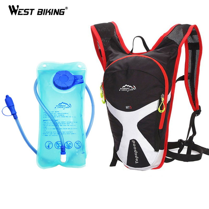 Large Capacity Backpacks With 2L Blue TPU Bicycle Mouth Water Bag Hydration MTB Bicycle Backpack Riding Running Sport Backpack