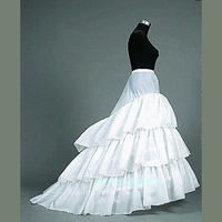 Long Train Wedding Dress Petticoat