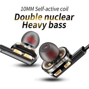Image 3 - QKZ AK4 In Ear Earphones Bass Ear HIFI Headset DJ Earphone Metal Stereo Earbuds with Microphone for Mobile Phone MP3 MP4 Xiaomi