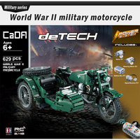 Technic world war 2 Power Function Military Motorcycle Army Motor Building Block Bricks Toys compatible legoingly german ww2
