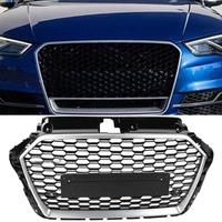 Car Front Bumper Grill Center Grille for Audi A3/S3 8V 2017 2018 2019 for RS3 Style car accessories Car Front Grille