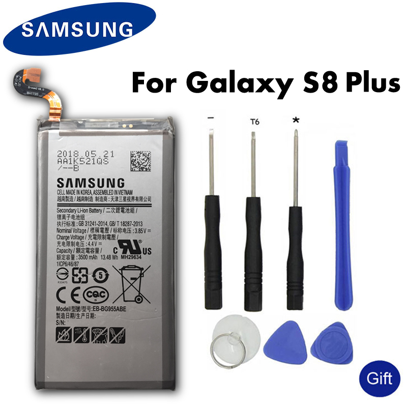 Samsung Original Battery 3500mAh EB-BG955ABE Mobile Phone Batteries For Galaxy S8 Plus G955 G955F G955A G955T G955S G955P