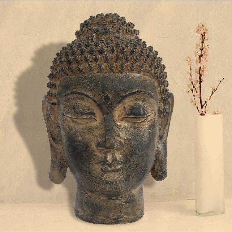 Thaïlande bouddhisme, tête de bouddha, asie du sud-est, hôtel, salon, décoration d'ameublement, statue bouddhiste, artisanat ~