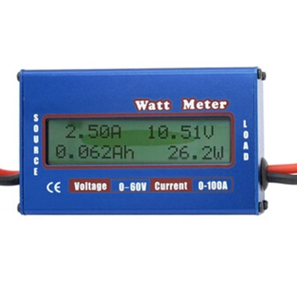 1pc Digital 60V/100A <font><b>Battery</b></font> Power Analyzer <font><b>Watt</b></font> <font><b>Meter</b></font> Balancer For DC RC Helicopter Wholesale Store 2017 Top Sale