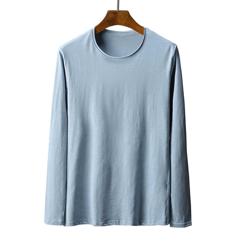 Ropa interior térmica de invierno de bambú de alta calidad para hombre, camiseta de manga larga, camiseta de compresión basada, ropa de Fitness para hombre
