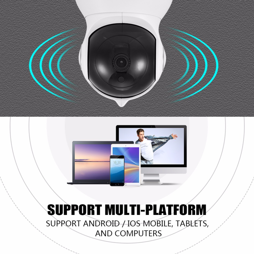 HD 1080P WIFI IP Security Surveillance Camera Night Vision Two-Way Audio Cam Cloud Service White US/EU/UK/AU Plug Optional