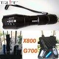 Тактический Военный CREE XML T6 LED 2000Lm led Факелы Масштабируемые LED Фонарик Лампы + 1x18650 Аккумулятор + Зарядное Устройство E17 G700 X800