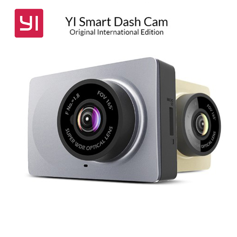 [International Edition] Xiaomi YI Smart Car DVR 165 Degree 2.7 Dash Camera 1080P 60fps ADAS Safe Reminder WIFI Dashcam