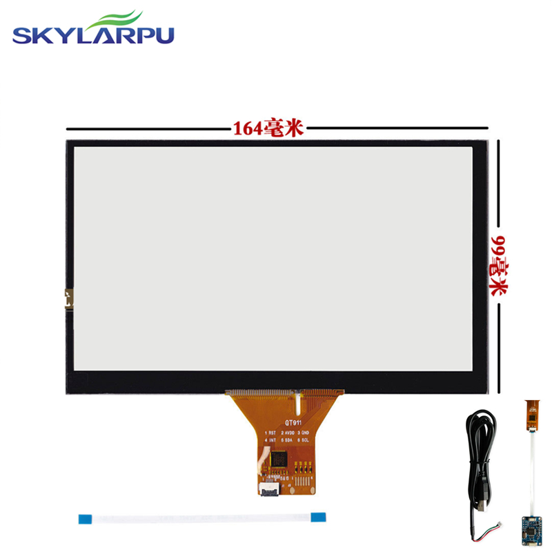 skylarpu 164mm*99mm Touch screen Capacitive touch panel Car hand-written screen Android  ...