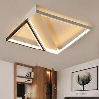 Современный светодио дный светодиодный потолочный светильник для гостиной спальни кухни luminaria luz techo plafon techo светодио дный LED пульт дистанци