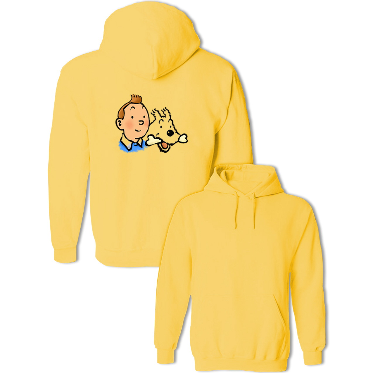 Funny Tintin And Snowy Interesting Origins Character Hoodies Women's Men's Sweatshirts Cotton Hoody Jackets Hip Hop Pullovers