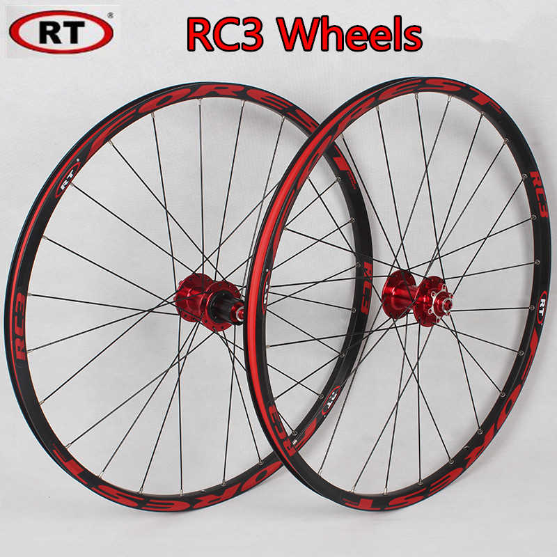 RT RC3 Mountain Bike Bicycle front 2 rear 4 sealed bearing aluminum alloy rim multicolor wheels цена