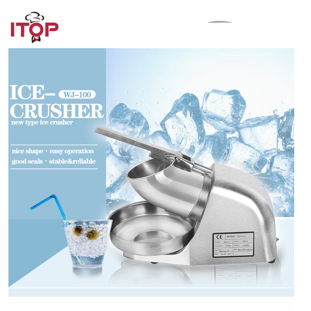 Stainless Steel Electric Block Ice Shaver/Manual Ice Crusher Machine 110V 220V stainless steel electric ice shavers crusher chopper ice slush maker icecream snow cone ice block breaking machine eu us plug