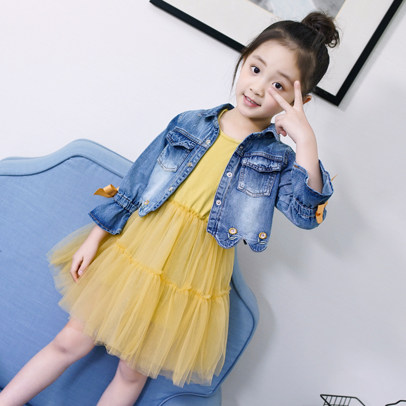 Denim Clothes Set For Girls 3 4 5 6 7 8 9 10 11 12 Years Autumn Toddler Girl Clothing Back To School Jeans Coats Teenage Outwear 4 5 6 7 8 9 10 11 12 13 years denim girls clothes set teenagers baby girl long sleeve jeans outwear floral dress 2pcs clothing