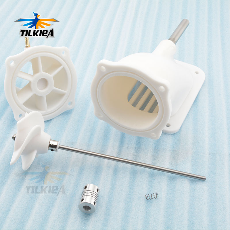 70mm Jet Water Thruster with 5mm Stainless Shaft Flex Couplings 8X5mm For Boat Surfboard Rc Model