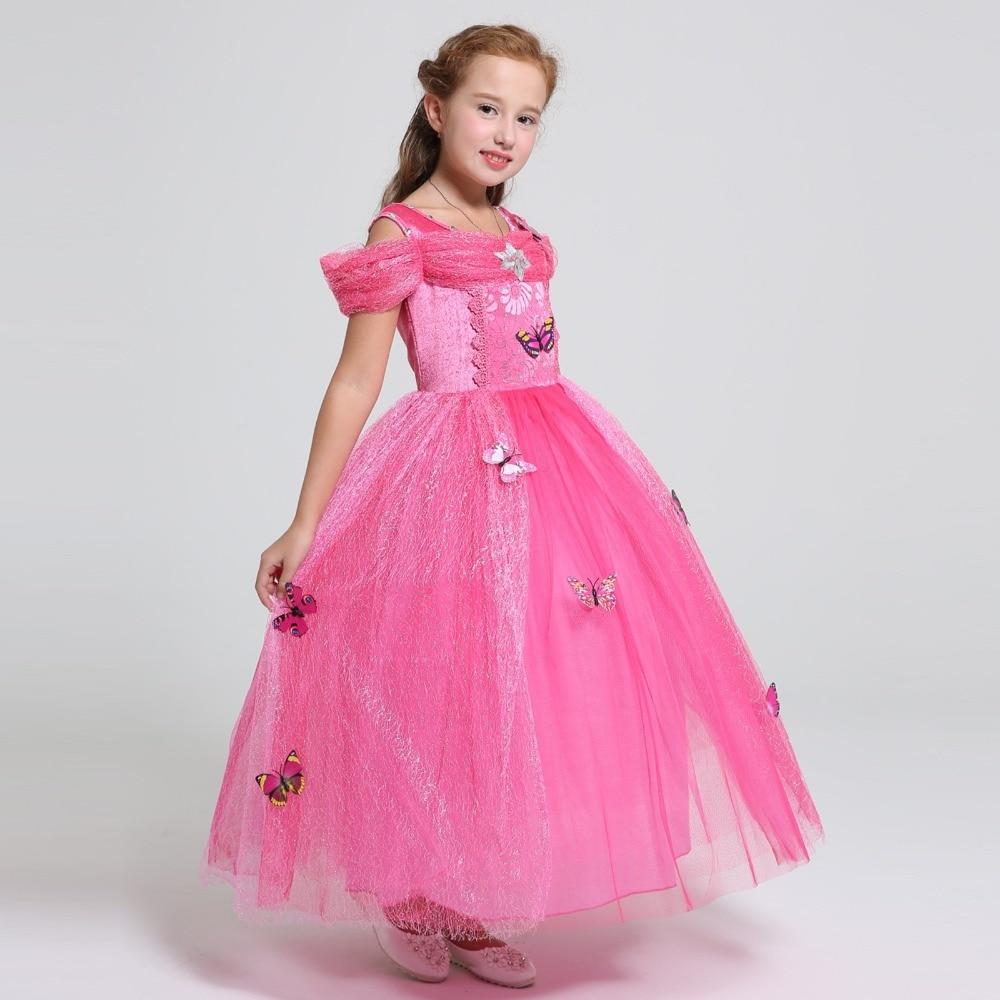 Belle verano Elsa traje de niños de la princesa Rapunzel Jasmine ...