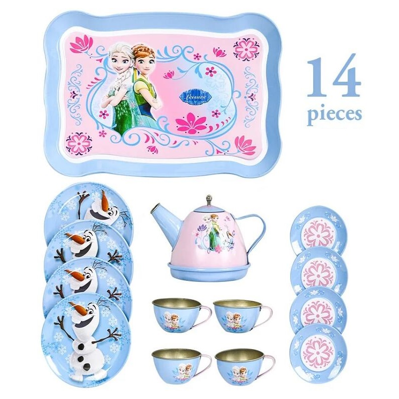 Fly AC Kids Learning & Education Princess Series Afternoon Tea Simulation Tea Set Toys For Children Birthday/Christmas Gift