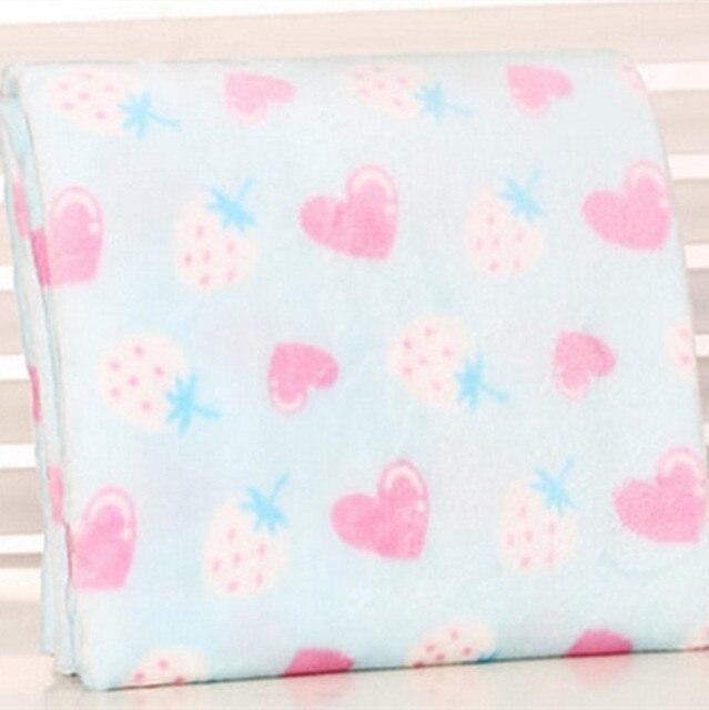 87e415faa3b Demi mètre deux face fraise coton flanelle tissu