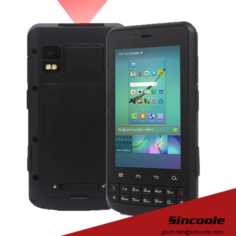3.8 inch android NFC reader smart Handheld terminal, 2D barcode scanner reader